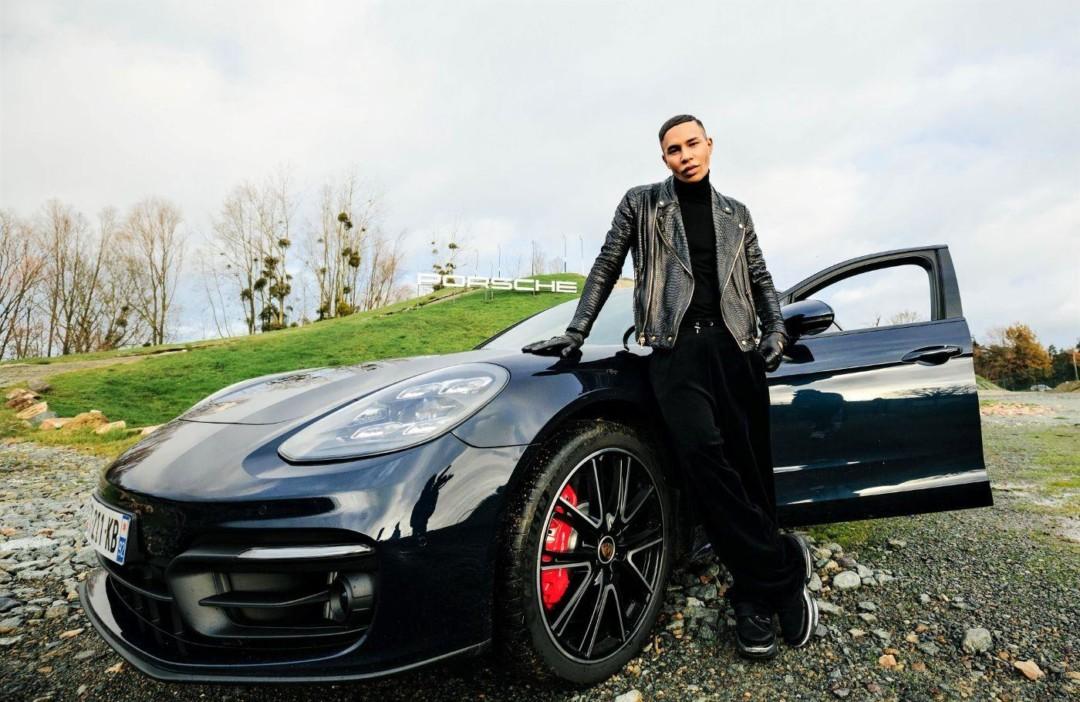 Olivier Rousteing dans la pub de Porsche et Balmain